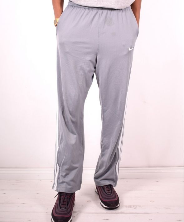 Nike Mens Vintage Tracksuit Trousers Large Grey 90s