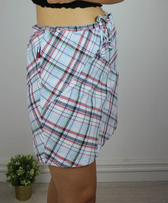 Vintage Tommy Hilfiger Checked Mini Skirt with Logo Side