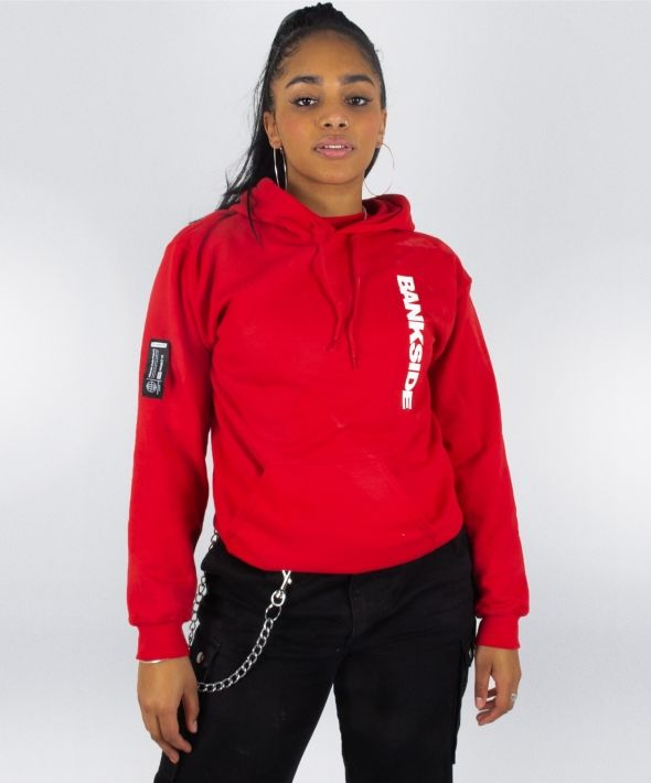 Red  3D Logo Hoodie with Sleeve and Hood Detail