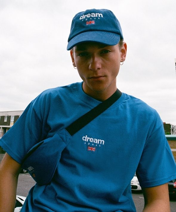 DBDNS Royal Blue T-shirt With Dream Sport Embroidered Logo
