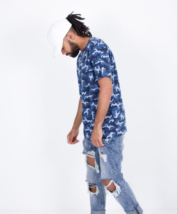 Jungle Camo Blue Tee