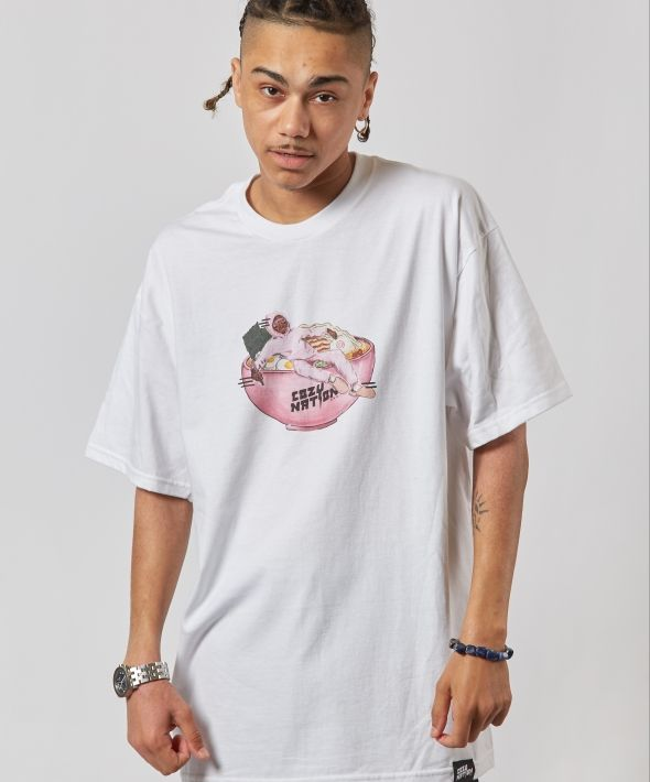 White Oversized Ramen T-shirt