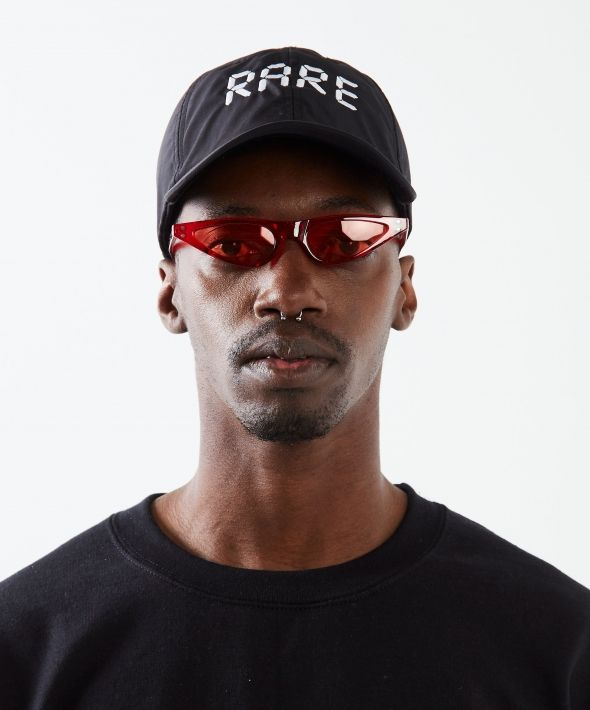 Red Triangle Frame Sunglasses