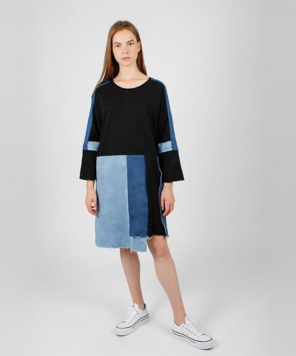 DNM by Absence of Colour Denim Patchwork Dress