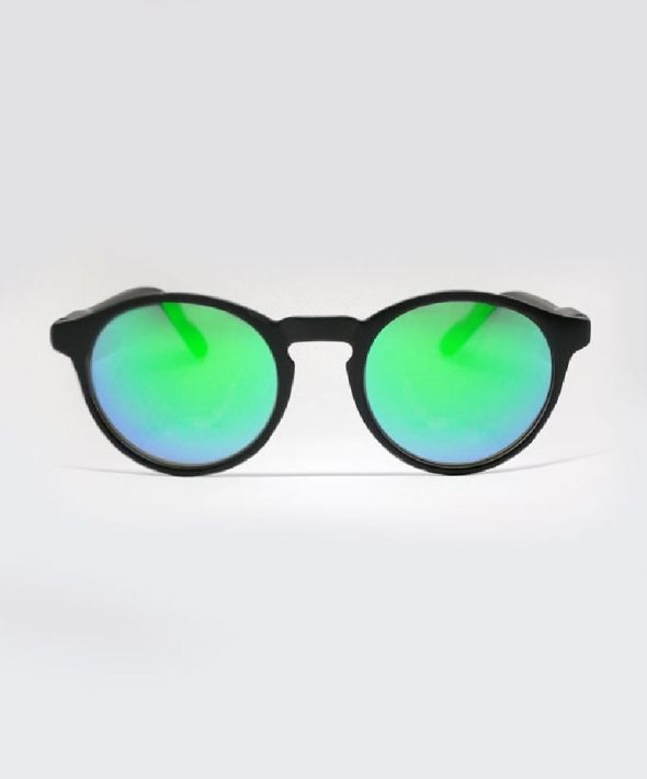 HAVILLAND Round Sunglasses - Black/Green