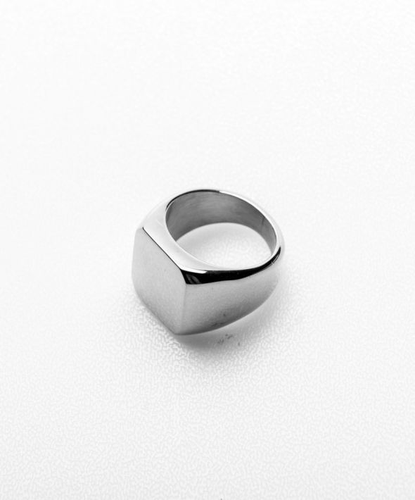 Keena Square Signet Ring - Silver