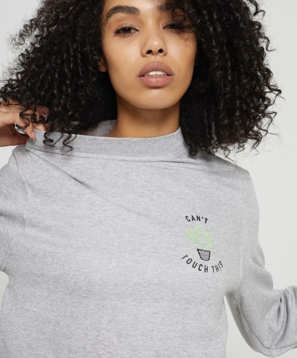 Can't Touch This Embroidered Sweatshirt