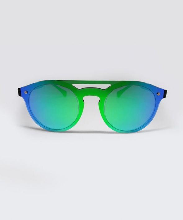TAYLOR Brow Bar Sunglasses - Blue/Green