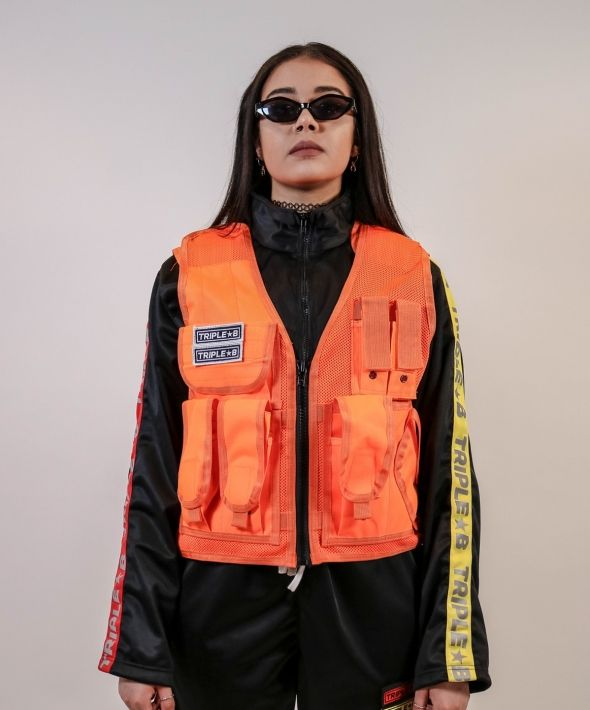 Triple B Womens Utility Vest - Orange