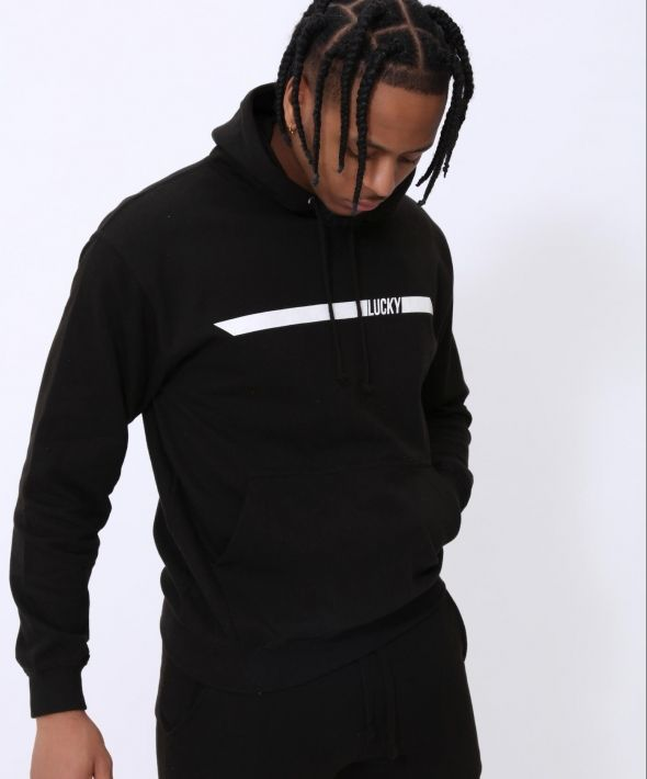 The Lucky Club Racer Hoody in Black