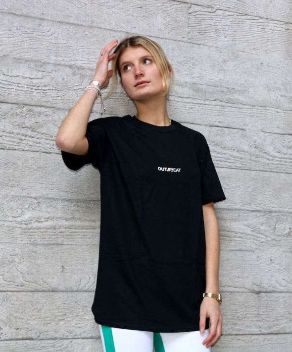 BLACK OUTBEAT BASE TEE