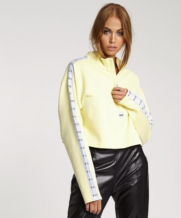 Eris Crop Sweat Yellow