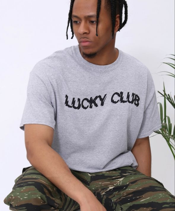 The Lucky Club Distort T shirt in Grey