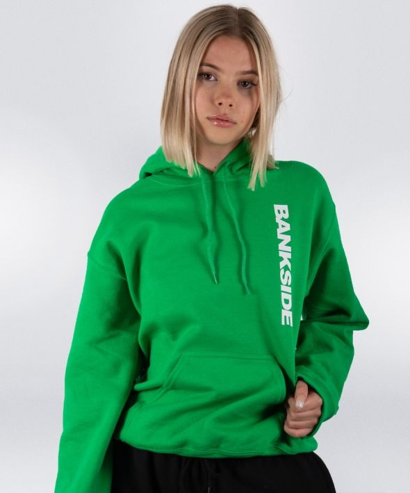 Green 3D Logo Hoodie with Sleeve and Hood Detail