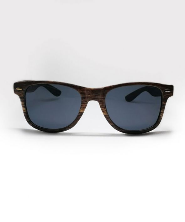 BUDDY Wood Effect Sunglasses - Dark Brown