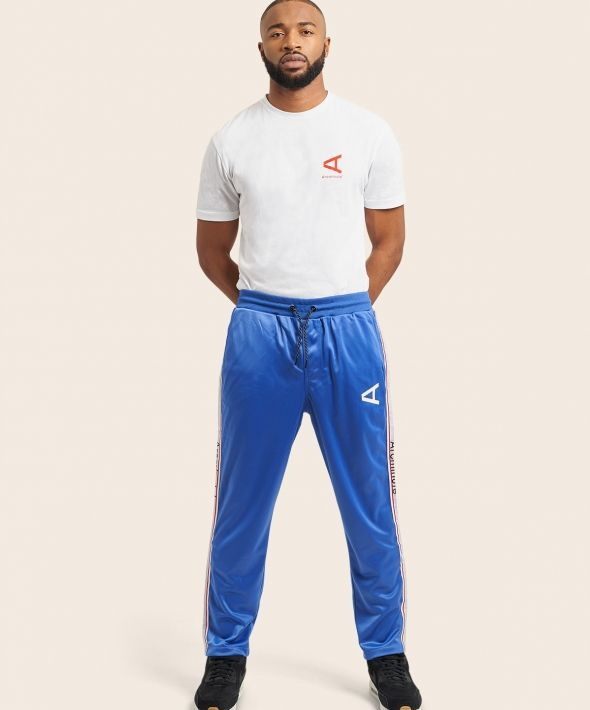 Arcminute Loose Fit Tracksuit Bottoms With Taping