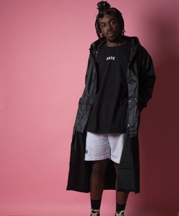 Longline Black Waterproof Windbreaker