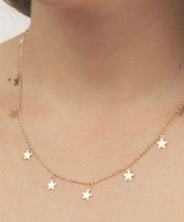 Gold Stars Fall Necklace