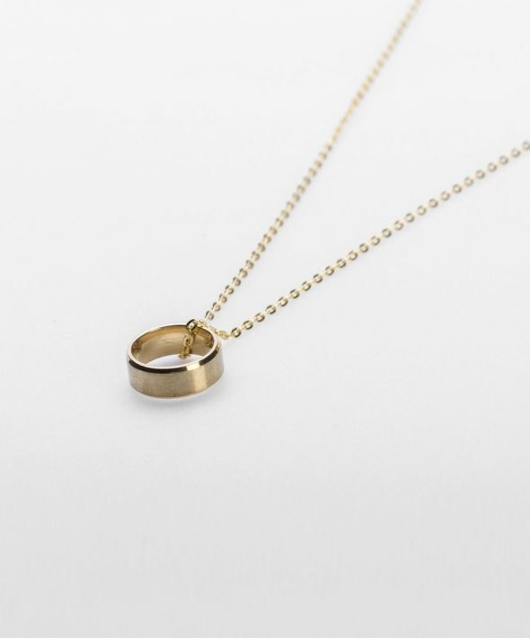 """54 Floral Keena 24"""" Ringer Pendant Necklace Chain - Gold"""