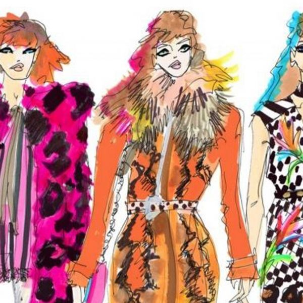These colourful fashion illustrations will make your jaw drop